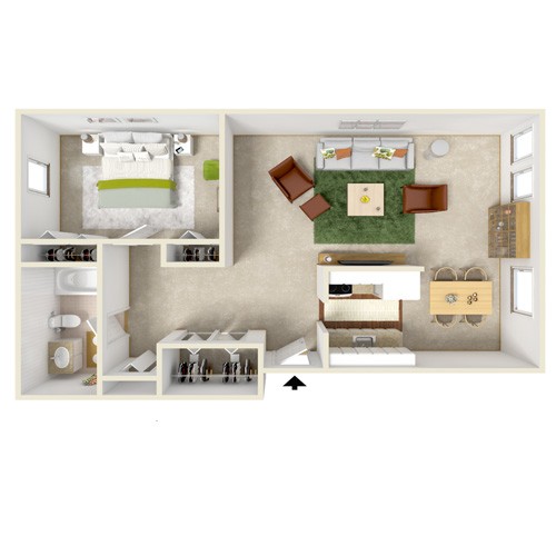 eastway manor one bedroom floor plan