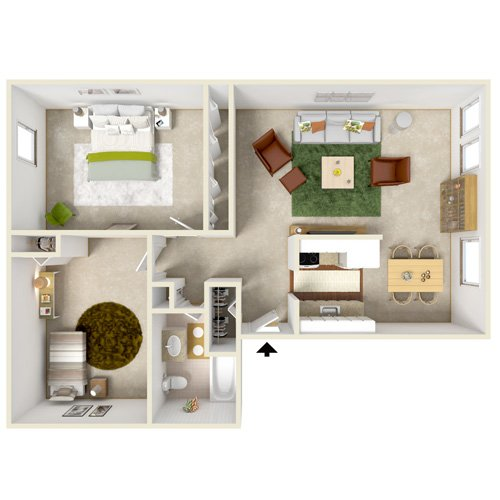 eastway manor two bedroom floor plan
